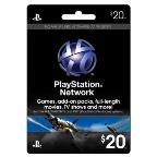 Z Playstation Network $20 Card