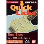 Lick Library: Guitar Quick Licks - Slow Blues Jeff Beck Style