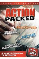 T.V. Sets - Action Packed - MacGyver/Walker, Texas Ranger/NCIS/Mission: Impossible
