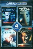 Action Movies: Fortress/Total Recall 2070/Cypher/Convict 762