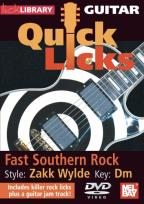 Lick Library: Guitar Quick Licks - Fast Southern Rock Zakk Wylde Style