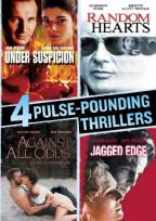 4 Pulse-Pounding Thrillers: Under Suspicion/Random Hearts/Against All Odds/Jagged Edge)