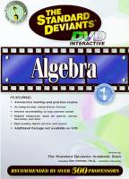 Standard Deviants - Algebra Part 1