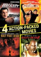 4 Action-Packed Movies Collection: Belly of the Beast/Half Past Dead/Half Past Dead 2/The Medallion