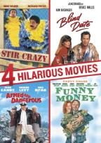 4 Hilarious Movies: Stir Crazy/Blind Date/Armed and Dangerous/Funny Money
