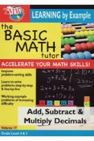 Basic Math Tutor: Add, Subtract & Multiply Decimals
