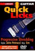 Lick Library: Guitar Quick Licks - Progressive Shredding