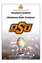 2012 Tostitos Fiesta Bowl: Stanford Cardinal vs. Oklahoma State Cowboys