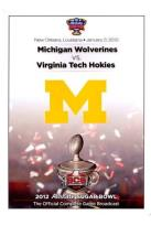 2012 Allstate Sugar Bowl: Michigan Wolverines vs. Virginia Tech Hokies