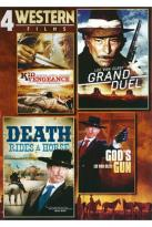 4 Western Films: Kid Vengeance/Grand Duel/Death Rides a Horse/God's Gun