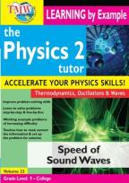 Physics 2 Tutor: Speed of Sound Waves