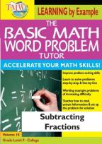 Basic Math Word Problem Tutor: Subtracting Fractions