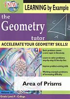 Geometry Tutor: Area of Prisms