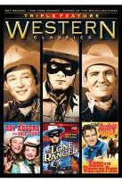 Westerns Classics Triple Feature: Roy Rogers with Dale Evans/The Lone Ranger/Riders of the Whistling Pines