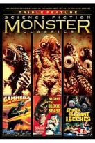 Science Fiction Monster Classics Triple Feature - Gammera the Invincible/Night of the Blood Beast/Attack of the Giant Leeches