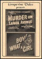 Murder on Lenox Avenue/Boy! What a Girl
