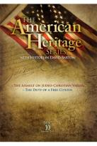 American Heritage Series, Vol. 10: The Assault On Judeo-Christian Values/The Duty Of A Free Citizen