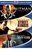 Hard Action 3-Pack: Hitman/Street Kings/Man on Fire