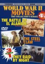 World War II Movies - The Battle of El Alamein/The Steel Claw/They Raid by Night
