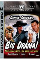 Big Drama Small Screen - Dragnet/Daniel Boone/Zorro