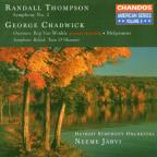 Thompson: Symphony no 2;  Chadwick / Järvi, Detroit SO