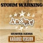 Storm Warning (In The Style Of Hunter Hayes) [karaoke Version] - Single