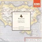 Walton: Symphony No 1, Cello Concerto / Rattle, Harrell