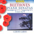 Piano Sonatas: Moonlight Op 27 / 2 / Tempest Op 31