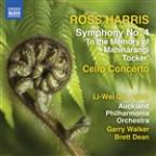 Ross Harris: Symphony No. 4; Cello Concerto