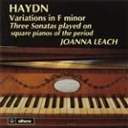 Haydn: Variations in F minor; Three Sonatas