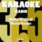 Radio (In The Style Of Darius Rucker) [karaoke Version] - Single