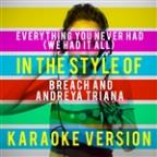 Everything You Never Had (We Had It All) [in The Style Of Breach And Andreya Triana] [karaoke Version] - Single