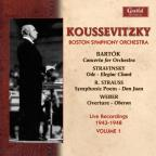 Koussevitzky Conducts Bartok, Stravinsky, Strauss and Weber