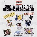 Kurt Weill Edition Highlights