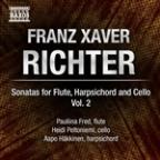 Franz Xaver Richter: Sonatas for Flute, Harpsichord & Cello, Vol. 2