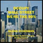 Occupy Wall Street We're The 99%