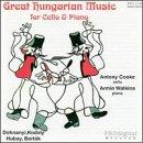 Great Hungarian Music for Cello and Piano / Cooke, Watkins