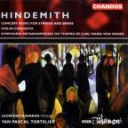 Hindemith: Symphonic Metamorphosis of themes by Carl Maria von; Concerto for violin