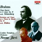 Johannes Brahms: Piano Quartet in G Minor, Op. 25; Variations and Fugue on a Theme by Handel, Op. 24