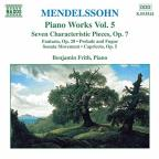 Mendelssohn: Piano Works, Vol.5