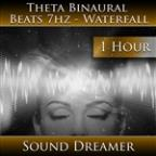 Theta Binaural Beats 7HZ - Waterfall - 1 Hour