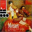 Mozart: Concerto for Violin Nos 2, 3 &amp; 4 / Adolph, et al