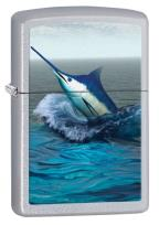 28444 Blue Marlin Satin Chrome