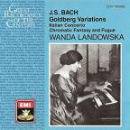 Bach: Goldberg Variations, etc / Wanda Landowska