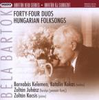 Bela Bartok: Forty-Four Duos; Hungarian Folksongs