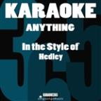 Anything (In The Style Of Hedley) [karaoke Version] - Single