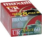 Ur-60 Normal Bias Cassettes - 8 Pack