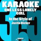 One Less Lonely Girl (In The Style Of Justin Bieber) [karaoke Version] - Single