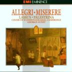 Allegri: Misere Mei, etc;  Lassus: Missa, etc /King's Choir