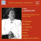 Lotte Lehmann, Vol. 6: Lieder Recordings, 1947
